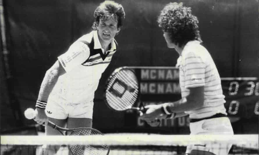 Peter McNamara, left, and Paul McNamee, playing at the New South Wales Open in 1985.
