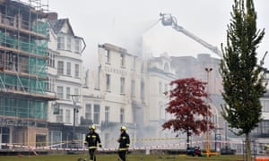 Firefighters tackle blaze in Exeter