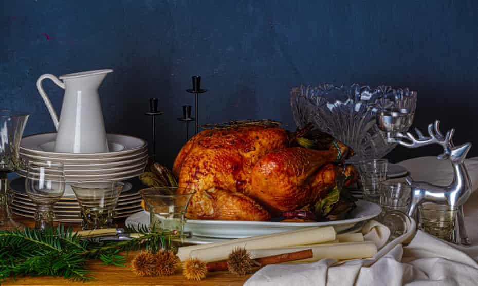 Perfect roast turkey by Lindsey Bareham. Food styling: Henrietta Clancy.