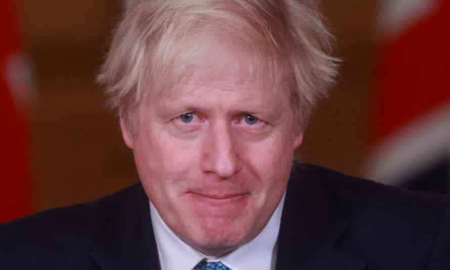 Prime minister Boris Johnson used the Downing Street press conference to promote the UK's vaccination programme.