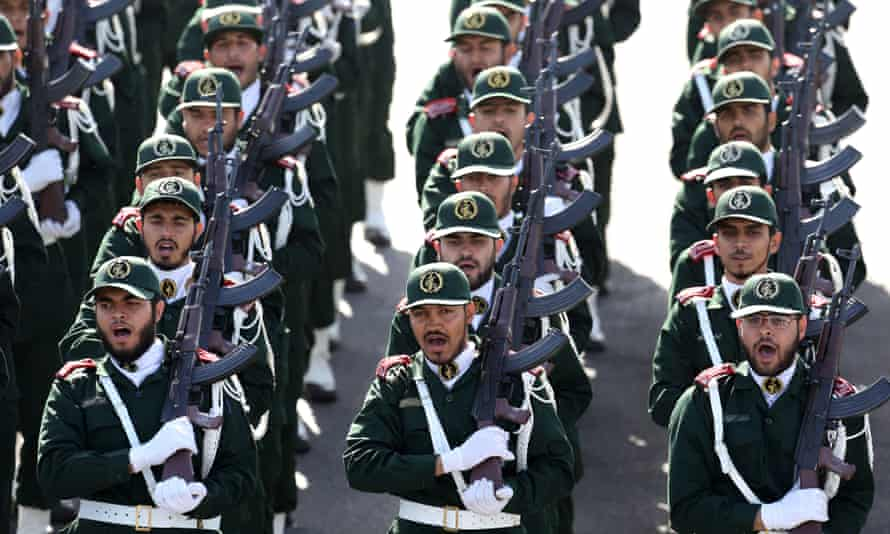 The Revolutionary Guards have been accused of supporting Hamas and Hezbollah.
