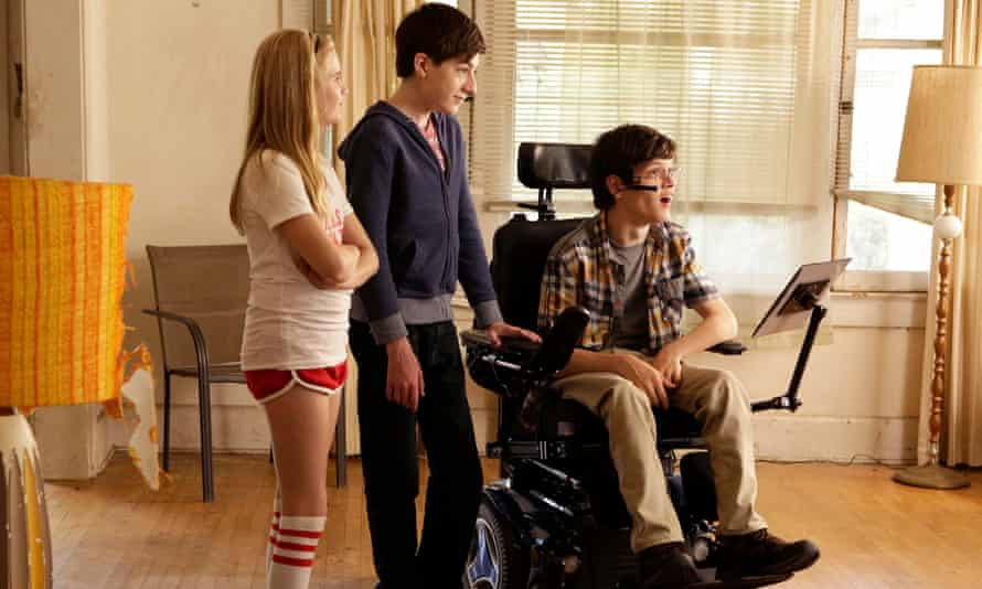 Micah Fowler (right) in Speechless.