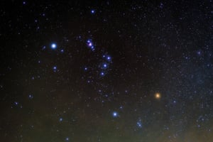 An attainable target … The constellation of Orion.