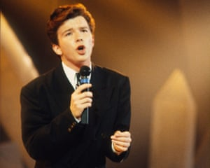 'He had to sing it in the bathroom of a Scottish hotel' … Rick Astley.