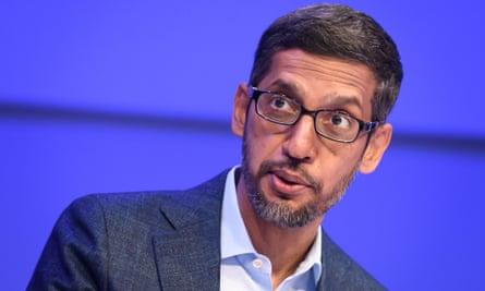 Sundar Pichai, CEO of Google.