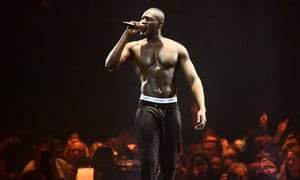 Stormzy on stage at the Brits
