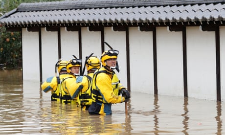 'This place was like a sea': survivors rescued after Typhoon Hagibis hits Japan – video
