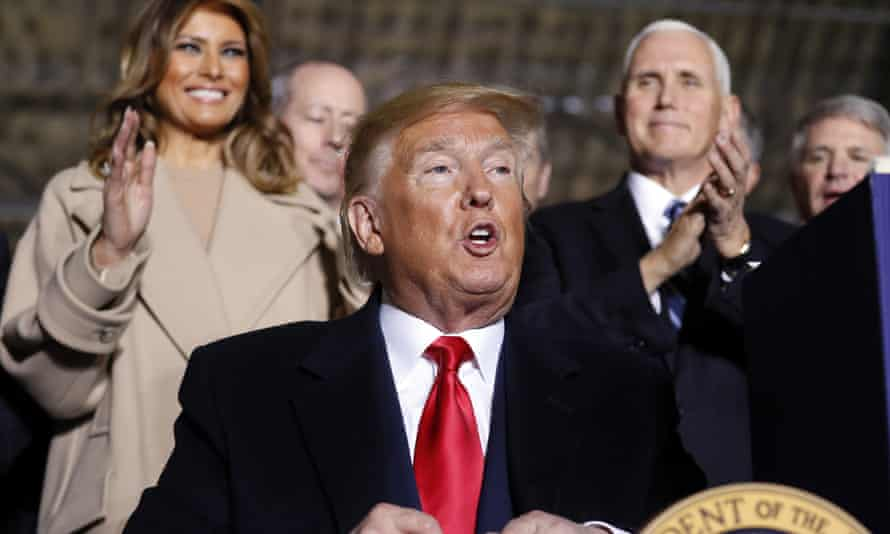 Donald Trump with Melania and Mike Pence. The roughly 20-minute audio clip from Justin Clark offers an insider's glimpse of Trump's re-election strategy.
