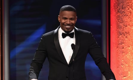2016 ABFF Awards: A Celebration Of Hollywood - Actor Jamie Foxx speaks onstage during the 2016 ABFF Awards: A Celebration Of Hollywood at The Beverly Hilton Hotel on February 21, 2016 in Beverly Hills, California.