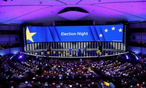 The European parliament on election night.
