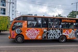 A matatu full of people