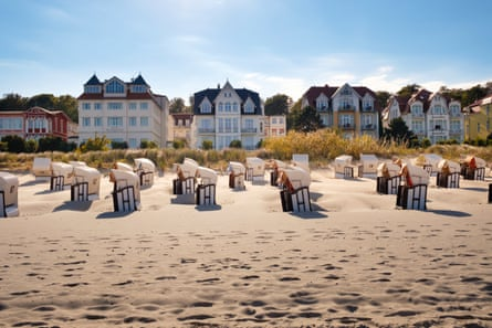 Hooded beach chairs on the Baltic island of Usedom.