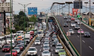 'No one expected it to grow so much' … traffic in Mexico City.