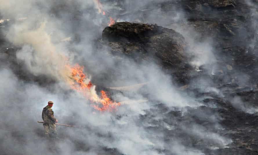 Burning heather