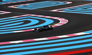 Lewis Hamilton drives his Mercedes during practice for this weekend's France Grand Prix at the Paul Ricard circuit.