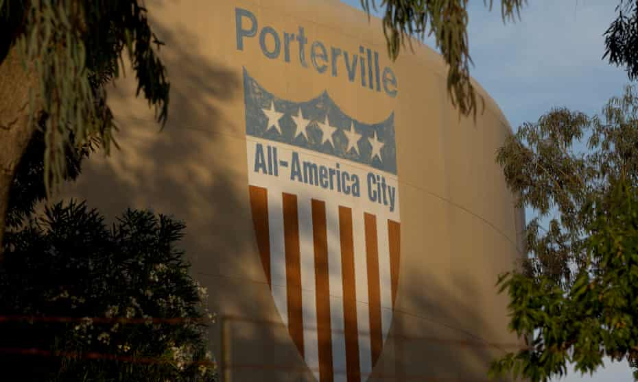 Porterville, a small city in the Sierra Nevada mountains.
