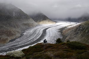 The 23km Aletsch glacier in Valais, Switzerland, one of the largest ice streams in Europe, has become the first Unesco world heritage site in the Alps.