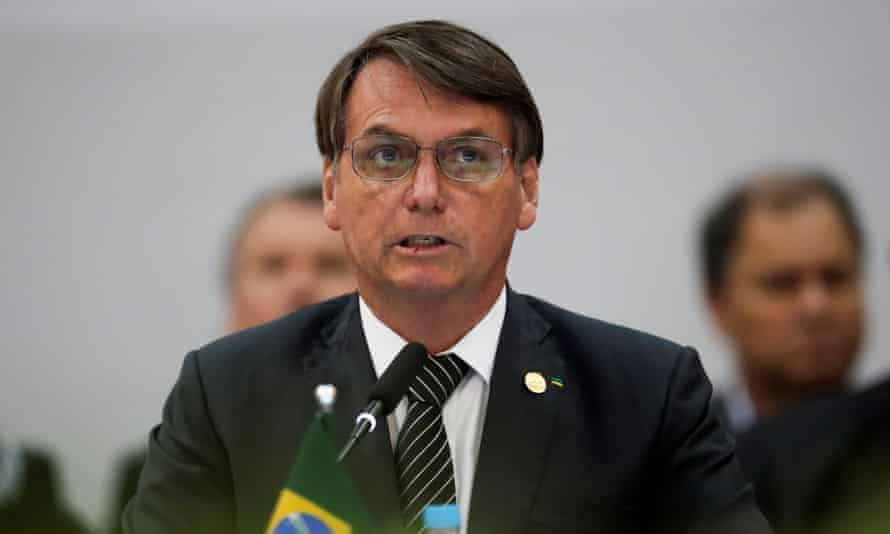 Bolsonaro earlier this month. Investigators raided a series of addresses linked to his family on Thursday.
