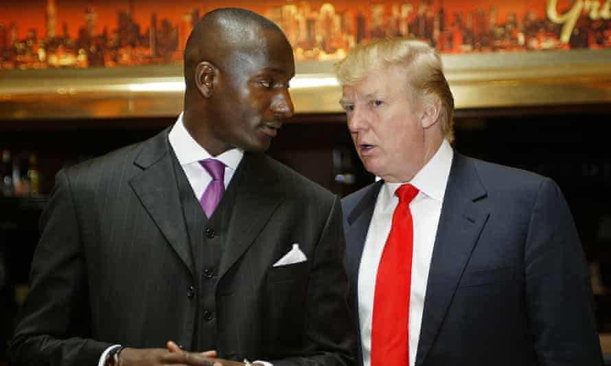 """Donald Trump and His Latest """"Apprentice"""" Randal Pinkett Search for the Next """"Apprentice"""" CandidatesRandal Pinkett and Donald Trump during Donald Trump and His Latest """"Apprentice"""" Randal Pinkett Search for the Next """"Apprentice"""" Candidates at Trump Tower in New York City, New York, United States. (Photo by Bennett Raglin/WireImage)"""