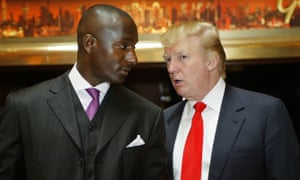 Randal Pinkett, left, won The Apprentice in 2005. Being president is 'about policy, not media whoredom', Pinkett said.