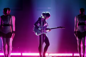 Janelle Monae performs onstage