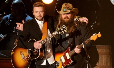 Justin Timberlake and Chris Stapleton at the Country Music awards.