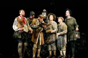 The Mechanicals, 2006: Bottom: Matthew Rose, Quince: Henry Waddington, Flute: Michael Smallwood, Snug: Geoffrey Moses, Snout: Alasdair Elliott, Starveling: Simon Kirkbride