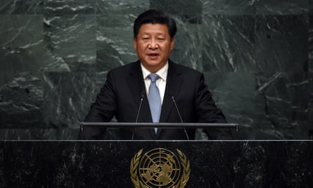 China's president Xi Jinping addresses the 70th Session of the UN General Assembly