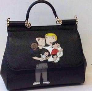 A handbag from the new D&G range celebrating same-sex families.