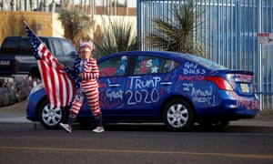 """Supporters of Donald Trump gather for a """"Stop the Steal"""" protest in Phoenix, Arizona."""