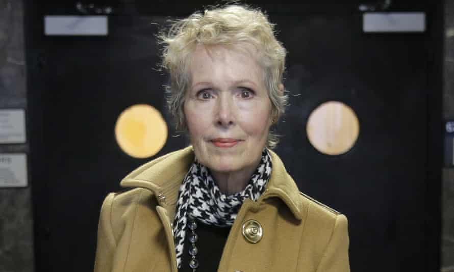 E. Jean Carroll arrives to a courtroom in New York in March as part of her defamation lawsuit against Donald Trump.