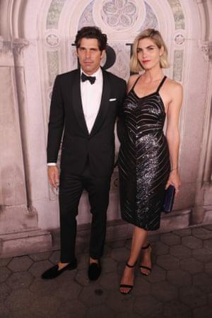 Nacho Figueras and Delfina Blaquier attend the Ralph Lauren fashion show.