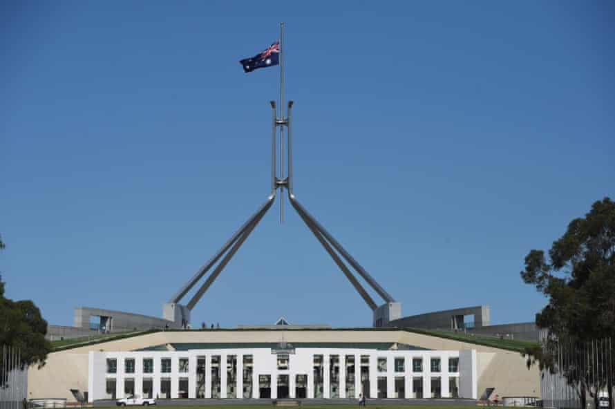 flag half mast parliament house canberra