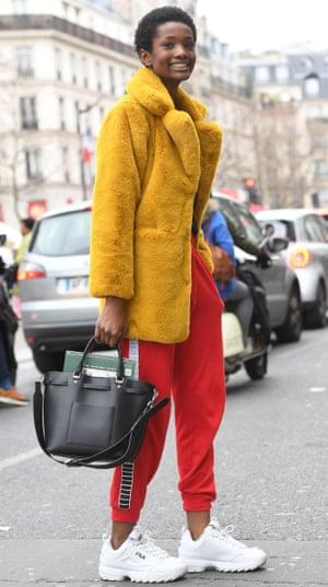 Bet foot forward … Paris fashion week in March.