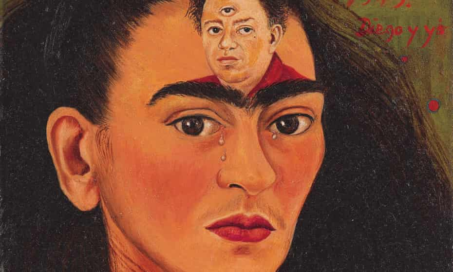 Frida Kahlo's 1949 self-portrait Diego y yo.