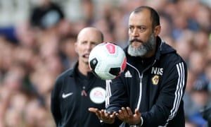 Wolves manager Nuno Espírito Santo is one of only four BAME managers in England's top four divisions.