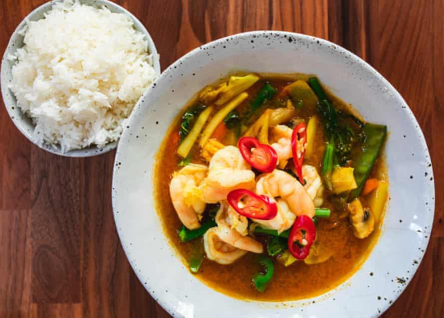 Sabai Sabai's prawn geng bha jungle curry.