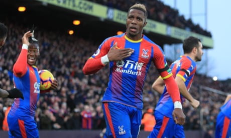 Wilfried Zaha finally scores at home to earn Palace draw with West Ham