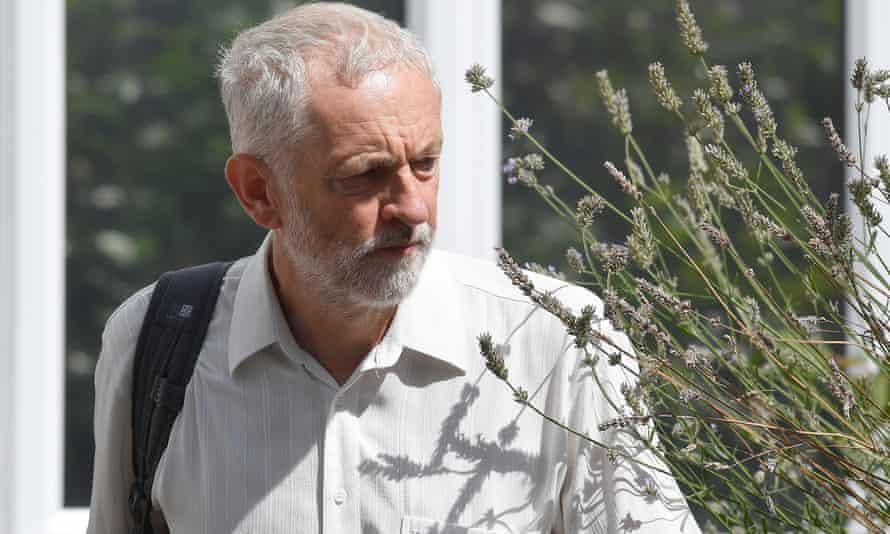 Jeremy Corbyn leaving his house