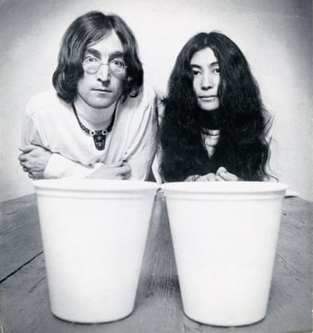 John Lennon and Yoko Ono promoting a joint art show in 1968.