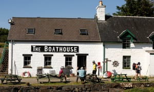 The Boathouse cafe and restaurant on Ulva
