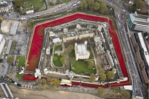 'I didn't stop talking until a meeting had been agreed' … the Tower moat filled with poppies.
