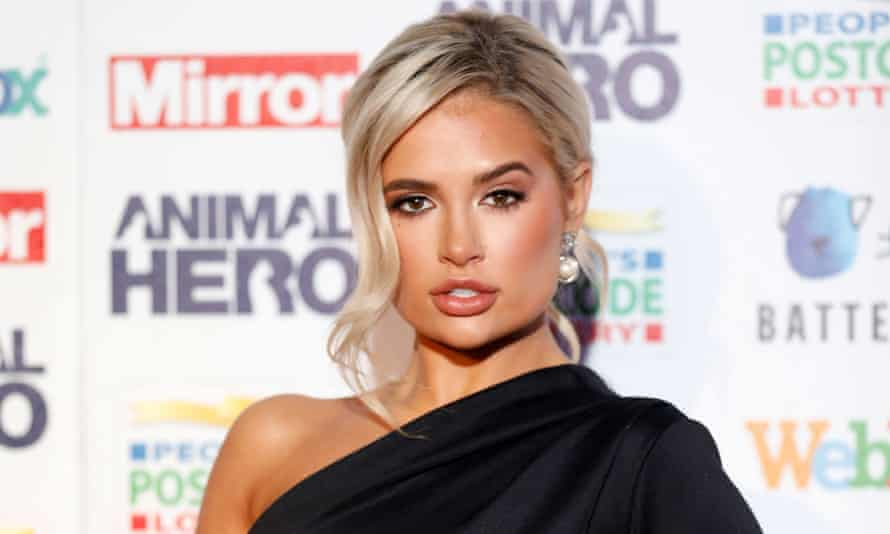 Love Island's Molly-Mae Hague, who had her lip filler dissolved.