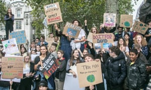 Pupils take Friday 27 September off school to campaign in Parliament Square over climate change.