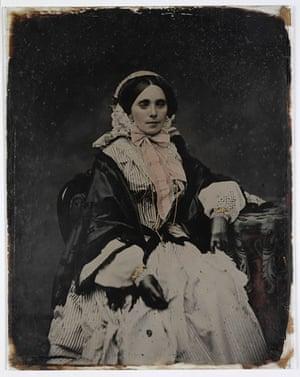 An ambrotype, circa 1857-58