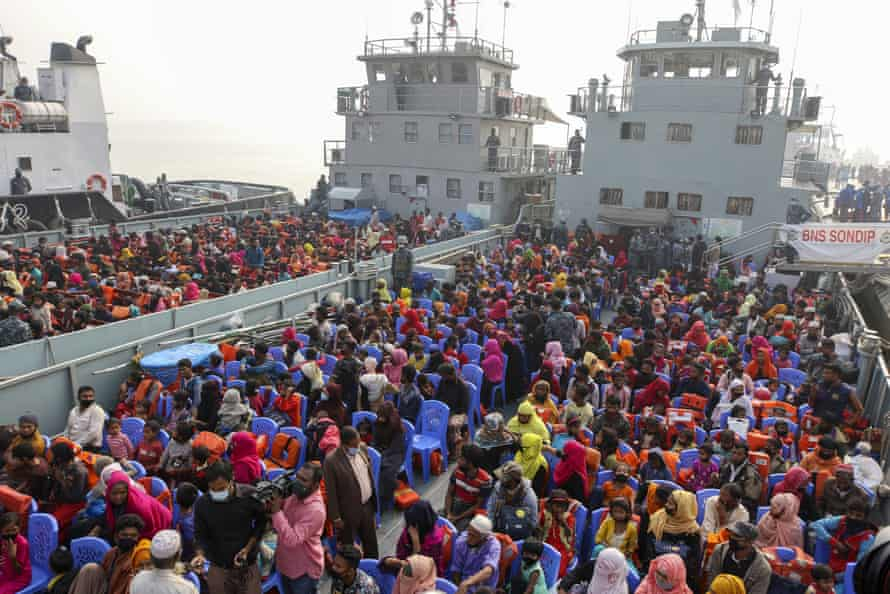 Rohingya prepare to sail to Bhasan Char