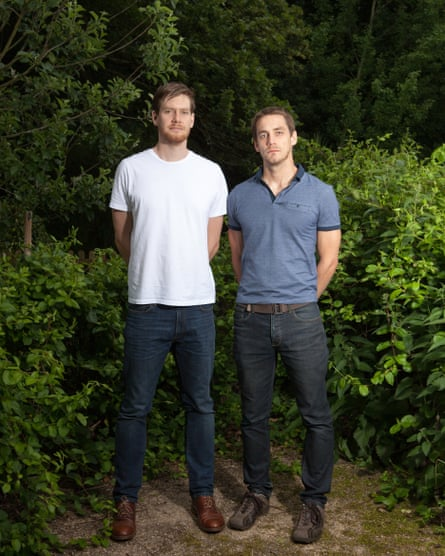 Luke Hart (left) and his brother, Ryan