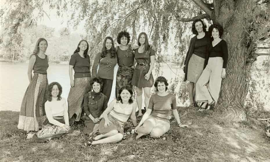 Wendy Sanford (far left) and the other founding members of Our Bodies Ourselves, c 1975