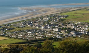 Fairbourne on the north Wales coast