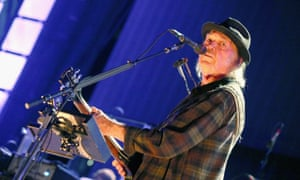 Neil Young performs in concert during Farm Aid 34 at Alpine Valley Music Theatre on September 21, 2019 in East Troy, Wisconsin.
